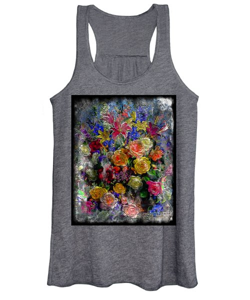 7a Abstract Floral Painting Digital Expressionism Women's Tank Top