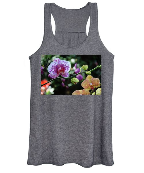 Butterfly Orchid Flowers Women's Tank Top
