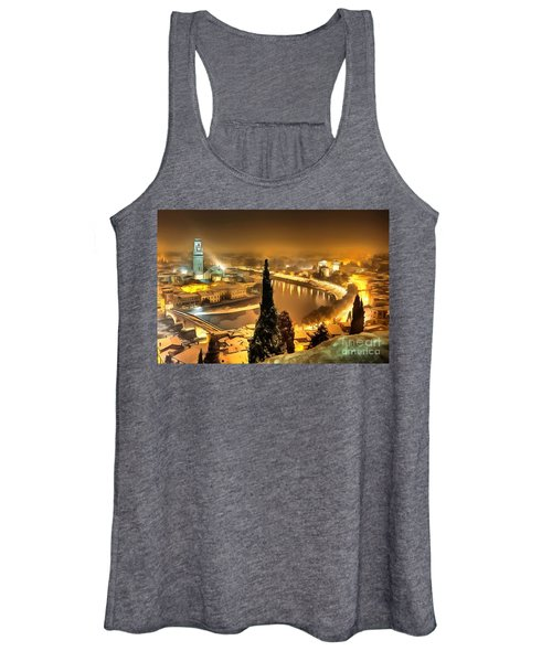 A Beautiful Blonde In Thick Paint Women's Tank Top