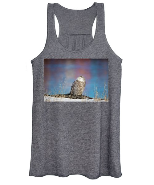 A Colorful Snowy Owl Women's Tank Top