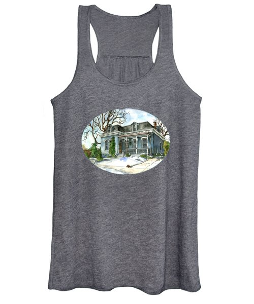 A Cozy Winter Cottage Women's Tank Top