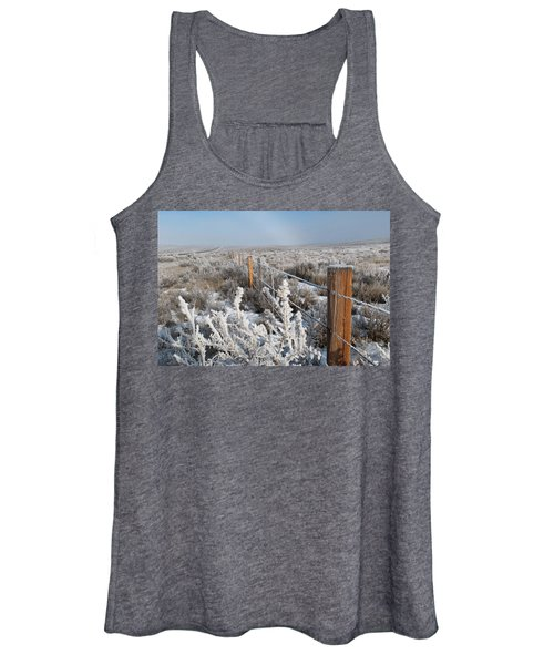 A Frosty And Foggy Morning On The Way To Steamboat Springs Women's Tank Top