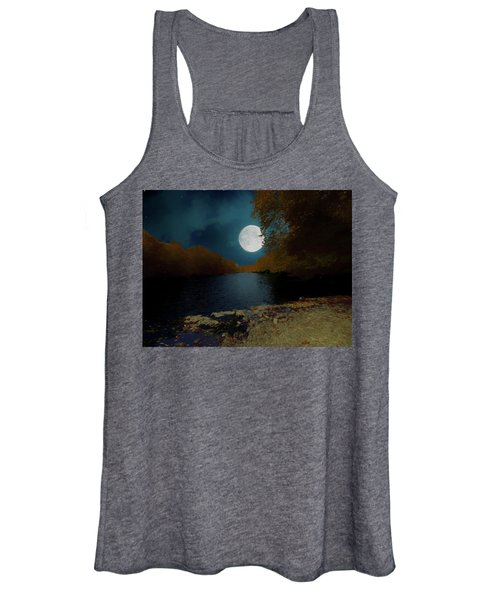 A Full Moon On A River. Women's Tank Top