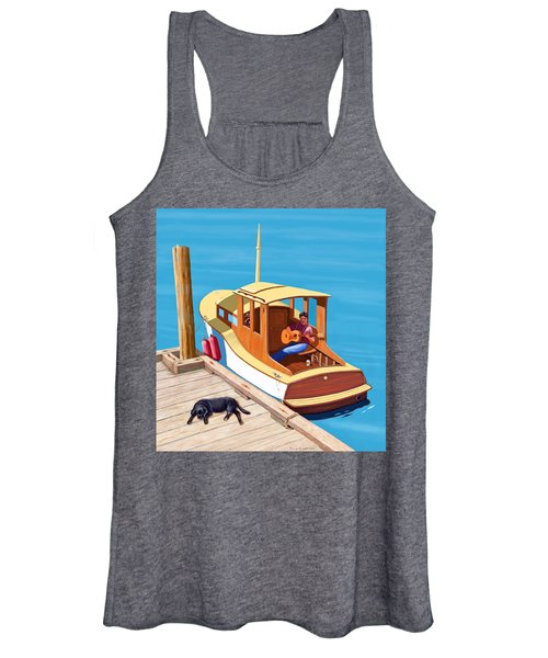 A Man, A Dog And An Old Boat Women's Tank Top