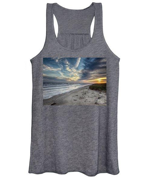 A Peaceful Beach Sunset Women's Tank Top