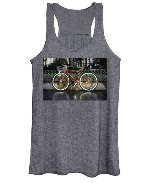 A Red Bicycle Near Jackson Square, New Orleans, Louisian Women's Tank Top