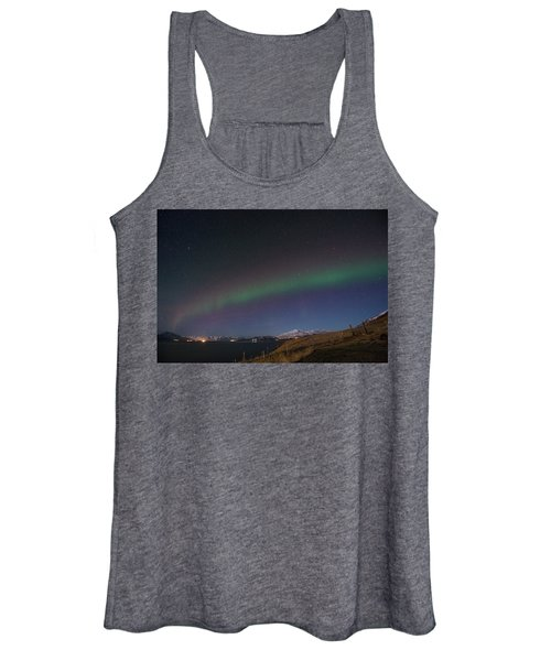 A Ribbon Of Northern Lights Women's Tank Top