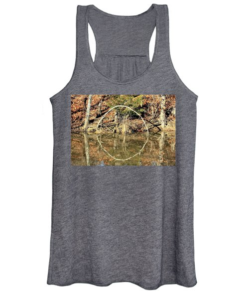 A Ring On The Pond In Fall Women's Tank Top