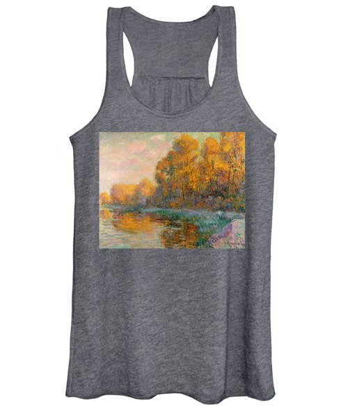 A River In Autumn Women's Tank Top