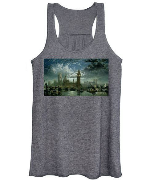 A View Of Westminster Abbey And The Houses Of Parliament Women's Tank Top