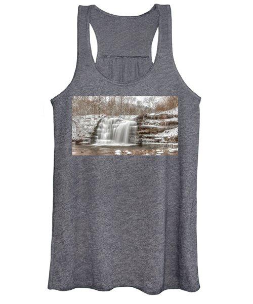 A Winter Waterfall - Color Women's Tank Top