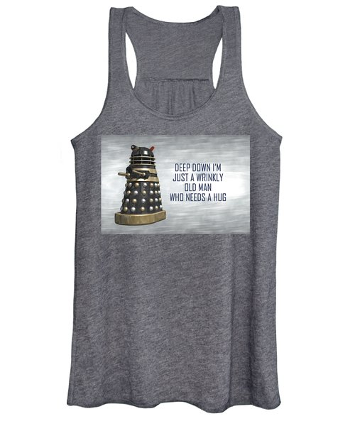 A Wrinkly Old Man Who Just Needs A Hug Women's Tank Top