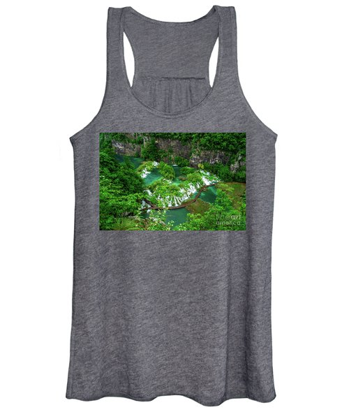 Above The Paths And Waterfalls At Plitvice Lakes National Park, Croatia Women's Tank Top