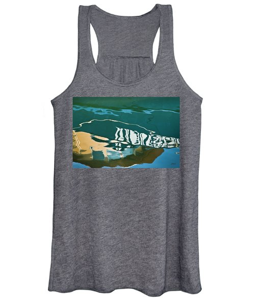 Abstract Boat Reflection Women's Tank Top