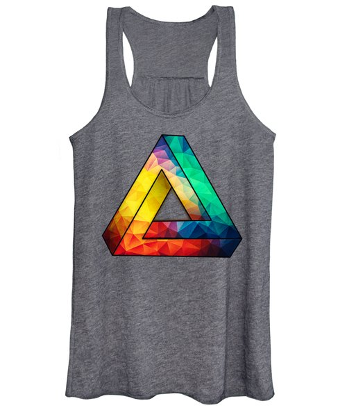 Abstract Color Wave Flash Women's Tank Top
