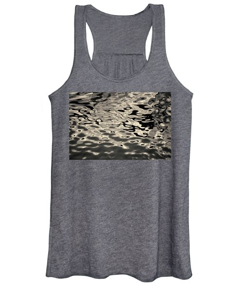 Abstract Dock Reflections I Toned Women's Tank Top