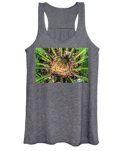 Abstract Nature Tropical Fern 2096 Women's Tank Top