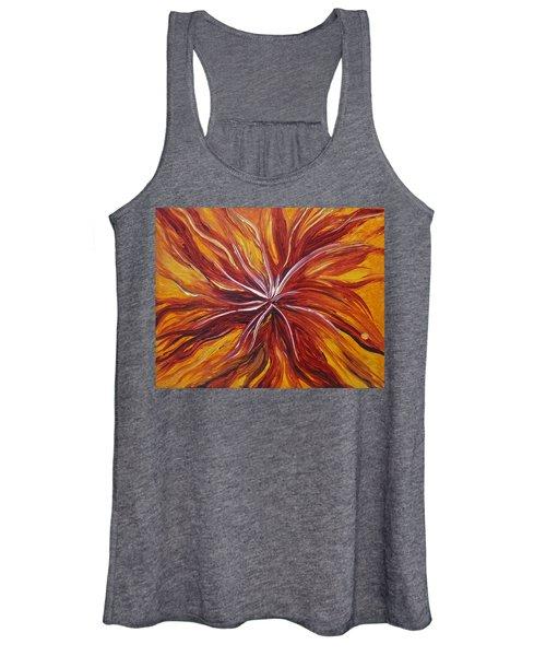 Abstract Orange Flower Women's Tank Top