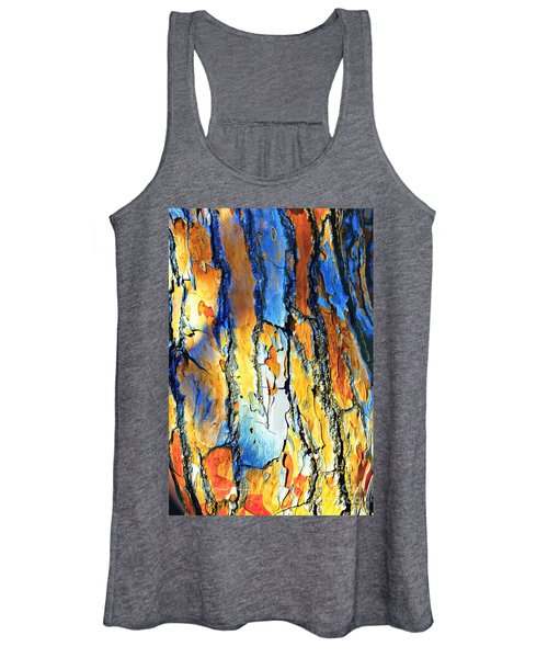 Abstract Saturated Tree Bark Women's Tank Top