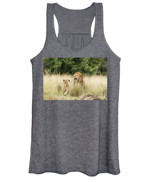 Adult Lion And Cub In The Masai Mara Women's Tank Top