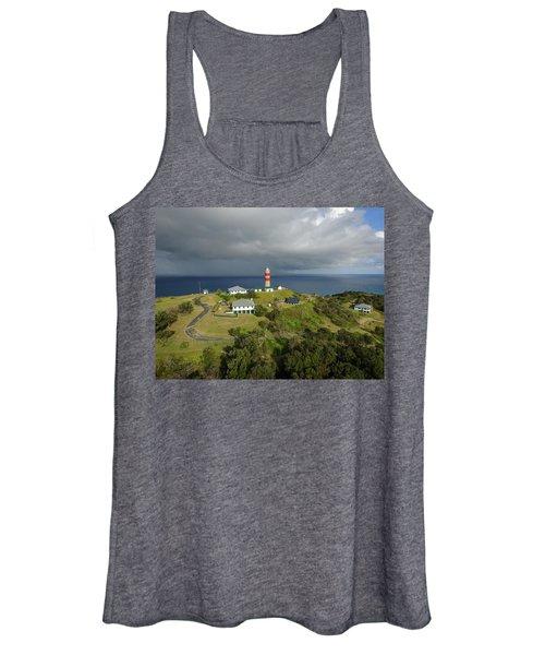 Aerial View Of Cape Moreton Lighthouse Precinct Women's Tank Top