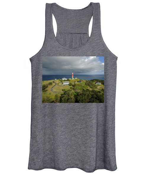 Aerial View Of Cape Moreton Lighthouse Precinct Women's Tank Top