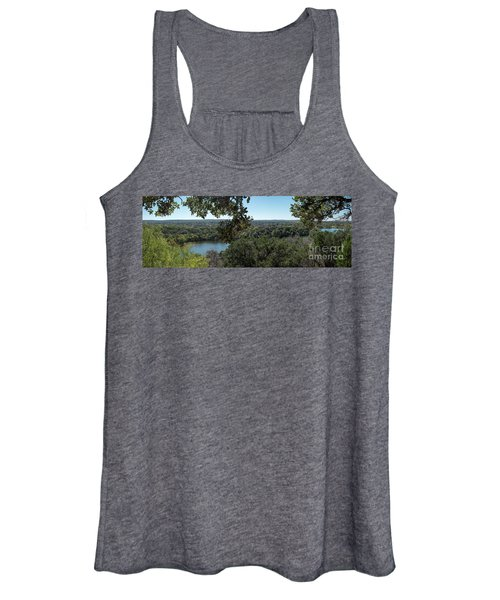 Aerial View Of Large Forest And Lake Women's Tank Top