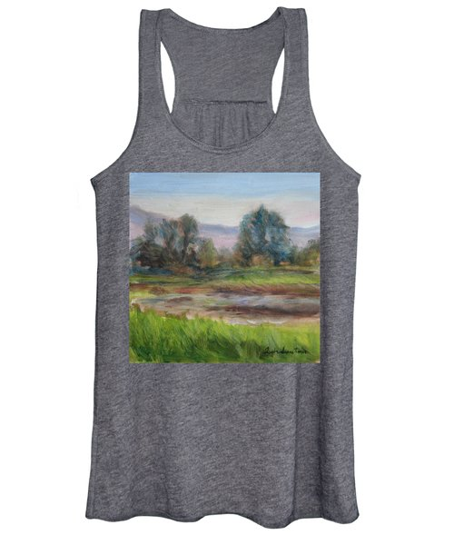 Afternoon At Sauvie Island Wildlife Viewpoint Women's Tank Top