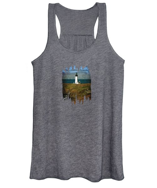 Afternoon At The Yaquina Head Lighthouse Women's Tank Top