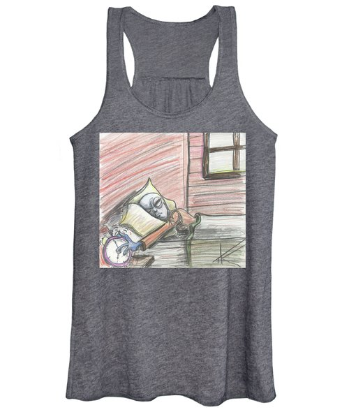 Alien Keeps Snoozin Women's Tank Top