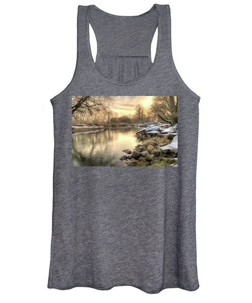 Along The Thames River Signed Women's Tank Top
