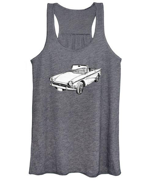 Alpine 5 Sports Car Illustration Women's Tank Top