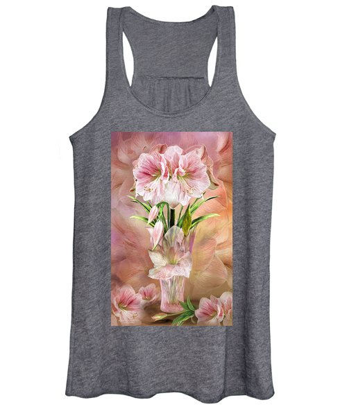 Amaryllis In Amaryllis Vase Women's Tank Top