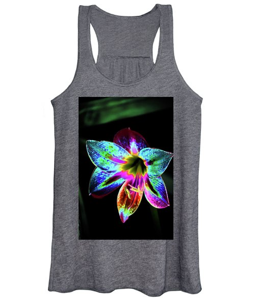 Amaryllis In Neon Women's Tank Top