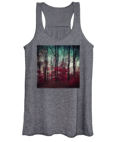 A.maze - Enchanted Red Forest Women's Tank Top