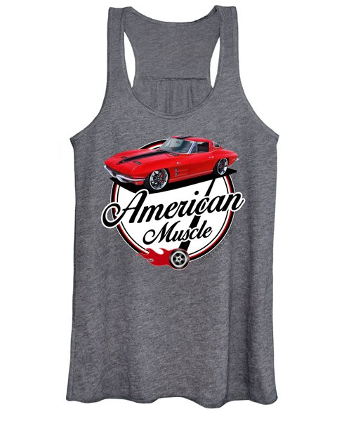 American Muscle In Red Women's Tank Top