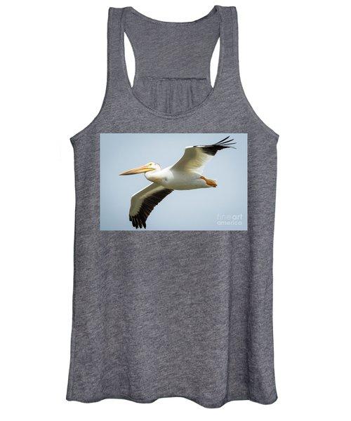 American White Pelican Flyby  Women's Tank Top