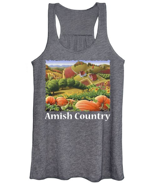Amish Country T Shirt - Pumpkin Patch Country Farm Landscape 2 Women's Tank Top
