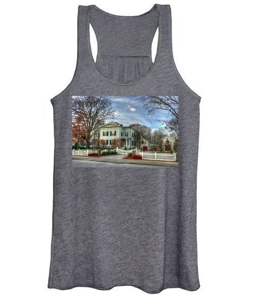 Amos Tuck House In Late Autumn Women's Tank Top