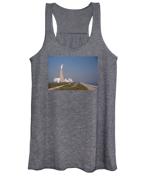 An Oceanside View Of The Sts-29 Discovery Launch From Pad 39b. Women's Tank Top
