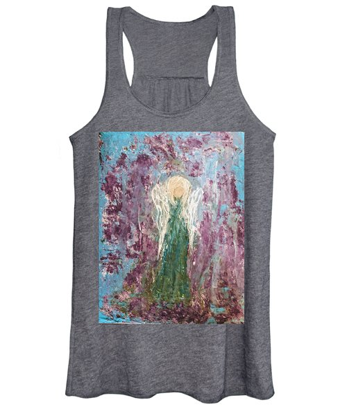 Angel Draped In Hydrangeas Women's Tank Top