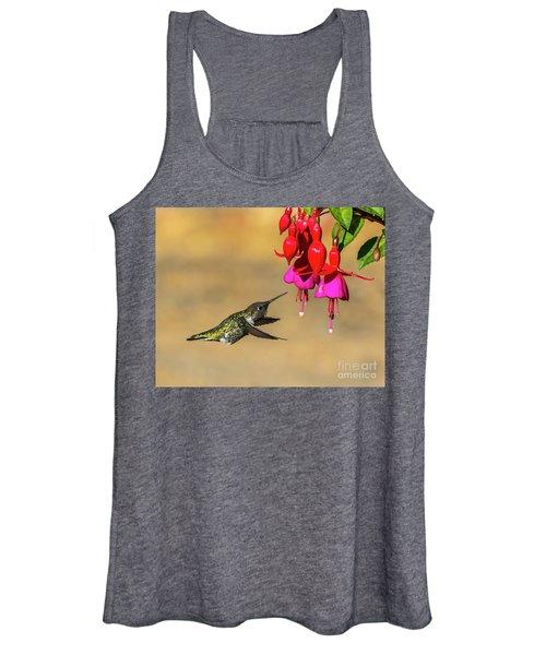 Anna And Hardy Fuchsia Flower Women's Tank Top