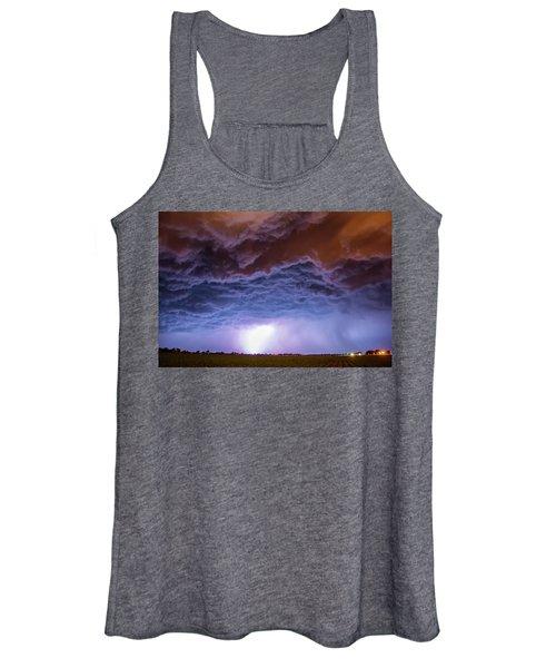 Another Impressive Nebraska Night Thunderstorm 007 Women's Tank Top
