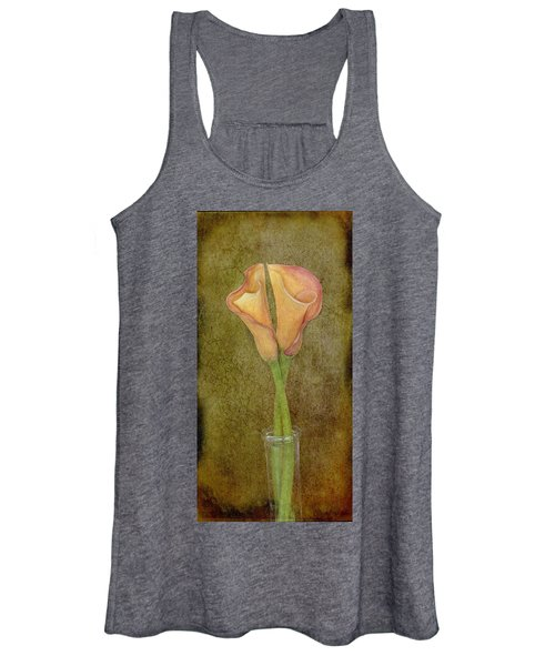 Antiqued Lilies Women's Tank Top