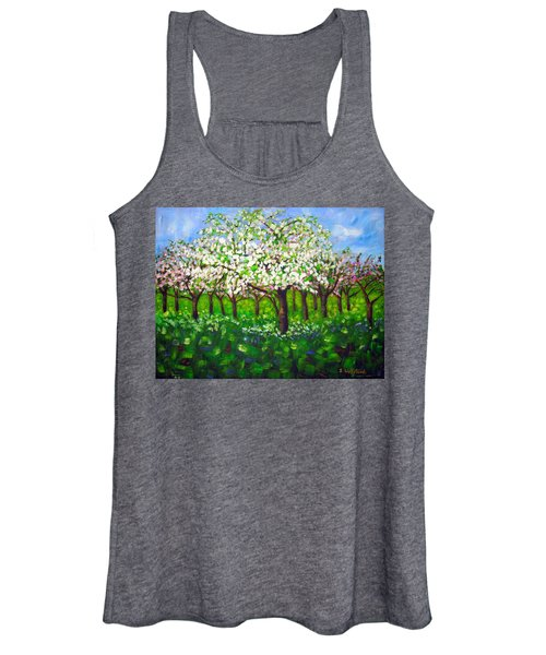 Apple Blossom Orchard Women's Tank Top