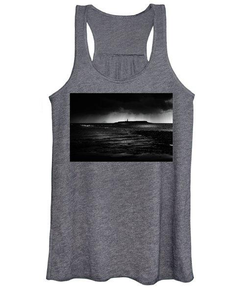 Approaching Storm, Ailsa Craig And Pladda Island Women's Tank Top