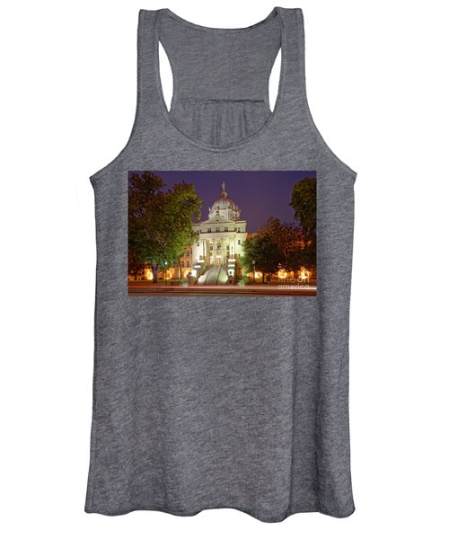 Architectural Photograph Of Mclennan County Courthouse At Dawn - Downtown Waco Central Texas Women's Tank Top
