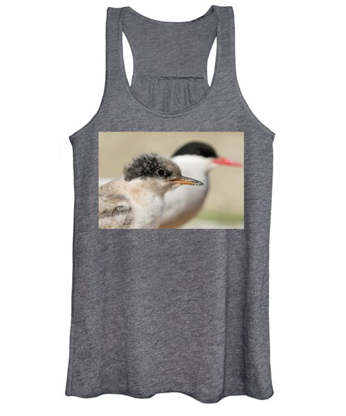 Arctic Tern Chick With Parent - Scotland Women's Tank Top