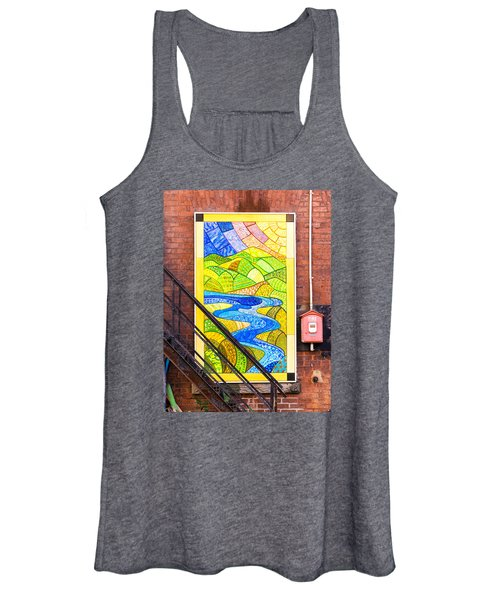 Art And The Fire Escape Women's Tank Top