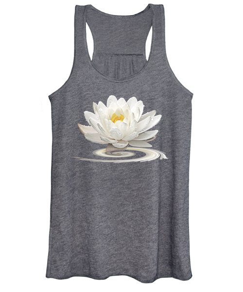 Inner Glow - White Water Lily Women's Tank Top